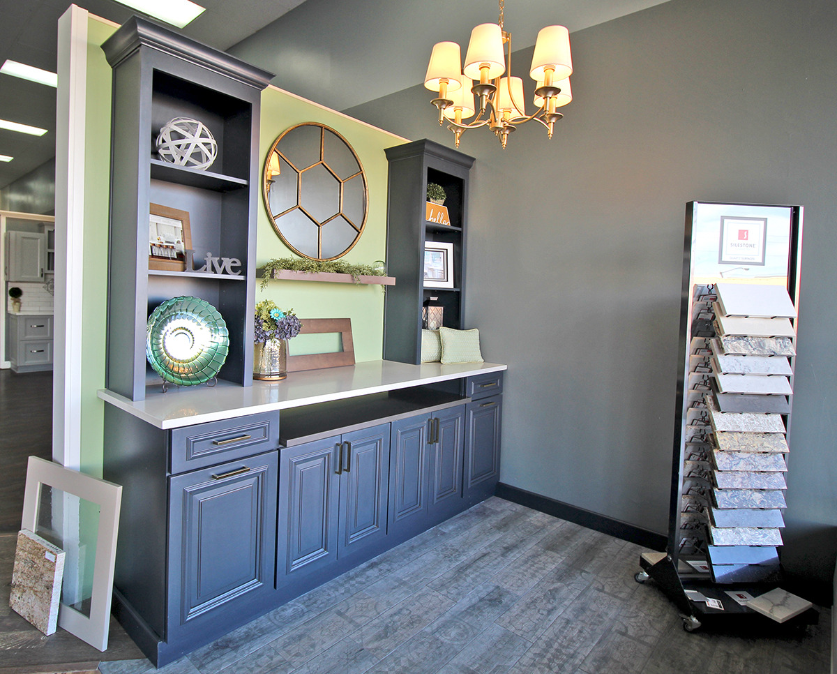 Cabinets, countertops, hardware, special built-ins and add-ons, all available at Choice Cabinet