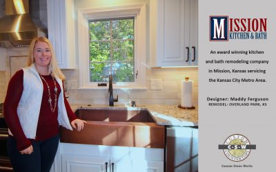 BEAUTIFULLY REMODELED KITCHEN BY MISSION KITCHEN & BATH | CUSTOM COUNTERTOPS BY CSW