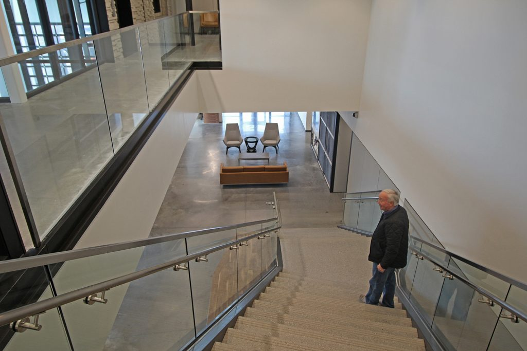 Wendell Maness, Salesman for CSW, on a final walk-through of the commercial space.