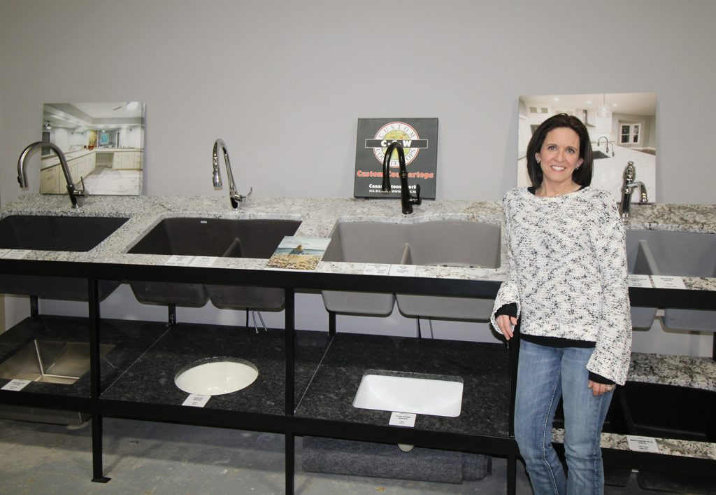 CSW offers a selection of sinks and faucets for your custom made granite and/or quartz countertops