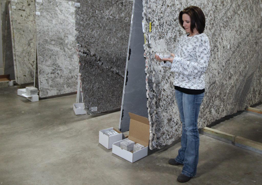 CSW has full-size granite and quartz slabs available to choose from